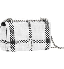 Burberry 8028117 Mini Latticed Lola TB Woven Leather Shoulder Bag