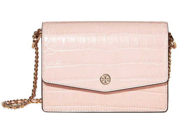 Tory Burch 58333 Robinson Embossed Mini Shoulder Bag Mineral Pink