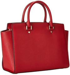 Michael Kors Selma Large Leather Satchel Red 30S3GLMS7L