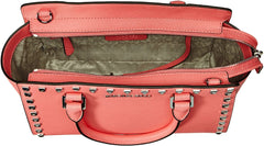 MICHAEL Michael Kors Selma Stud Medium Top Zip Satchel Coral