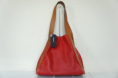 Akris Alex Medium Cervo Tote LIPSTICK