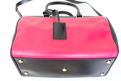 Saint Laurent Bicolor Duffle 6 Bowling Satchel BLACK PINK