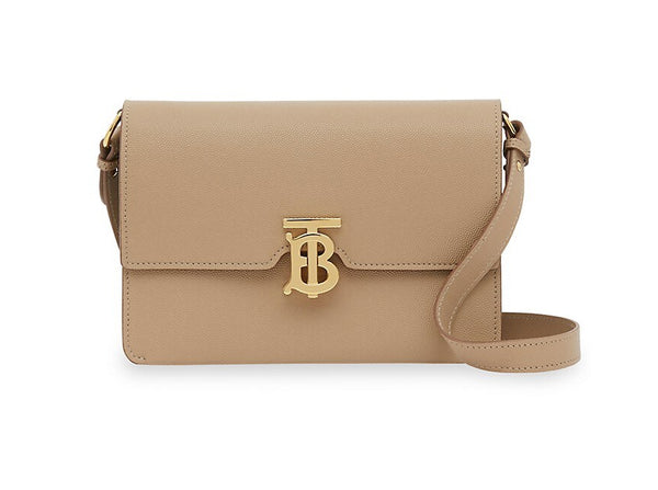 Burberry Albion TB Hardware Grainy Leather Shoulder Crossbody Archive Beige