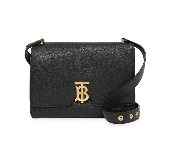 Burberry Medium Alice TB Leather Shoulder Bag Black