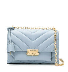 Michael Kors Cece Medium Quilted 30T9G0EL8L Pale Blue Convertible Shoulder Bag