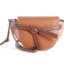 LOEWE 321.54.U62 Gate Mini Soft Calf Tan Medium Pink Crossbody