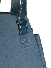 LOEWE Medium Hammock 314.12.v06 Steel Blue Classic Calfskin Bag