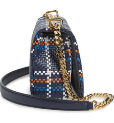 Burberry 8027188 Small Latticed Lola TB Woven Leather Shoulder Bag