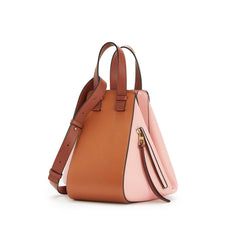 LOEWE Small Hammock 387.30W835 Tan/Medium Pink Classic Calfskin Bag