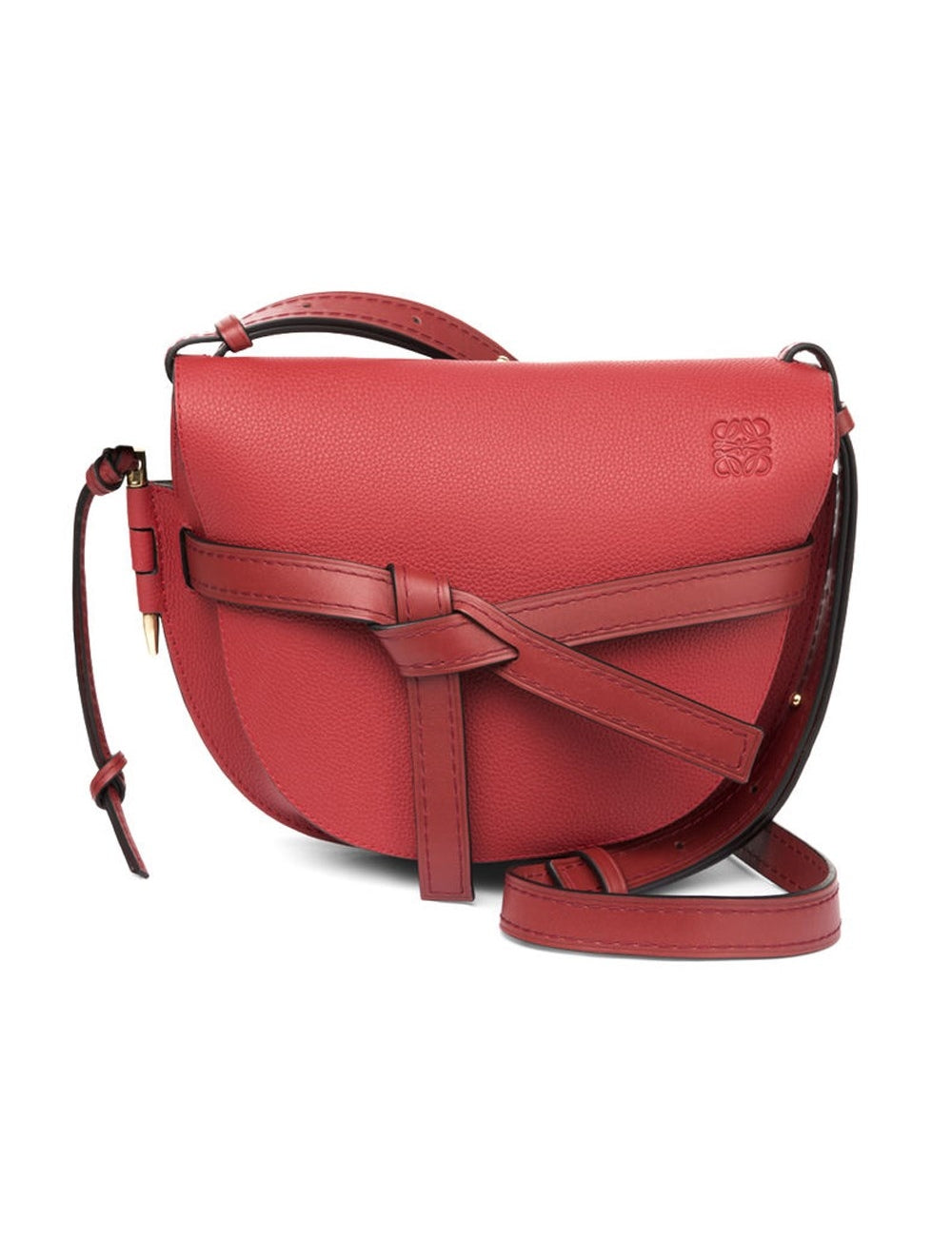 LOEWE 321.12.T20 Gate Small Scarlet Red Burnt Red Crossbody Bag