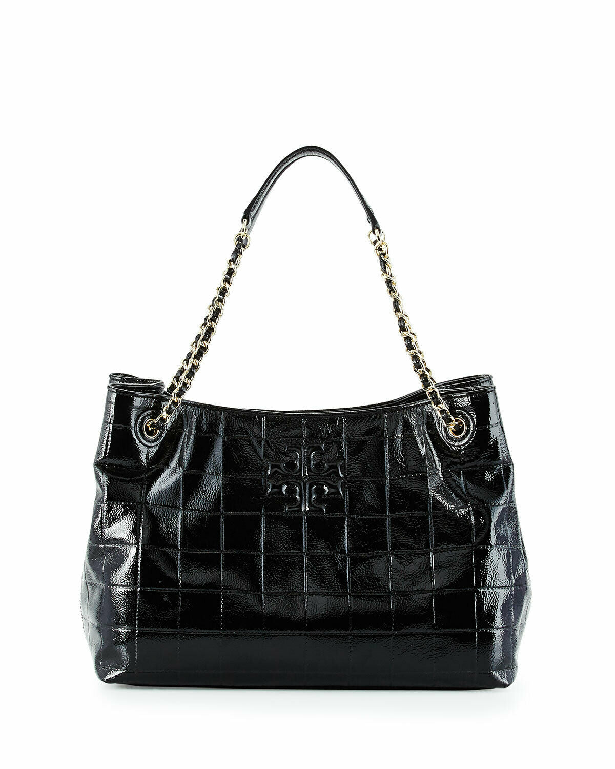 Tory Burch 32159846 Marion Quilted Slouchy Patent Leather Chain Tote