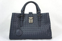 Bottega Veneta Intrecciato Small Roma Leggero Gray Leather Tote
