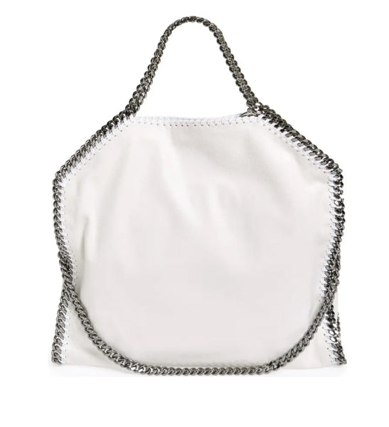 Stella McCartney 234387W9132 Small Shaggy Deer Falabella Foldover Tote Snow