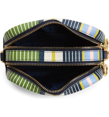 Tory Burch 73460 Perry Bombe Pieced Strap Field Day Stripe Crossbody Bag
