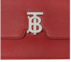 Burberry 8030187 Medium Alice TB Leather Shoulder Bag Dark Carmine