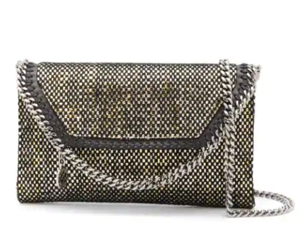 Stella McCartney 581238w8711 Falabella Woven Mini Crossbody Black
