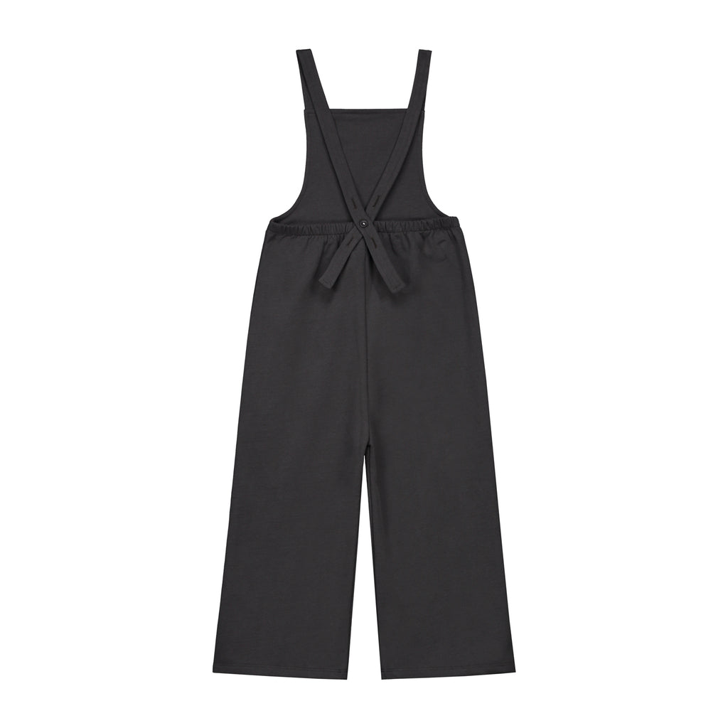 pleated suit in nearly black