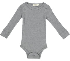 PLAIN LS BODY MODAL GREY MELANGE