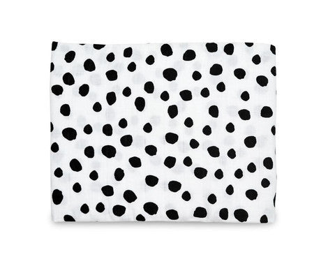 organic Cotton Muslin Swaddle Blanket-spots