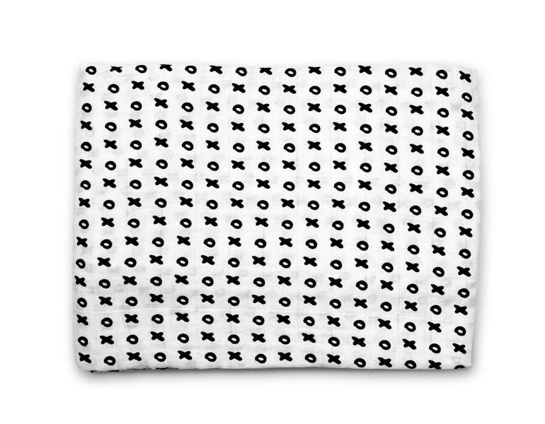 organic cotton muslin swaddle blanket-xo