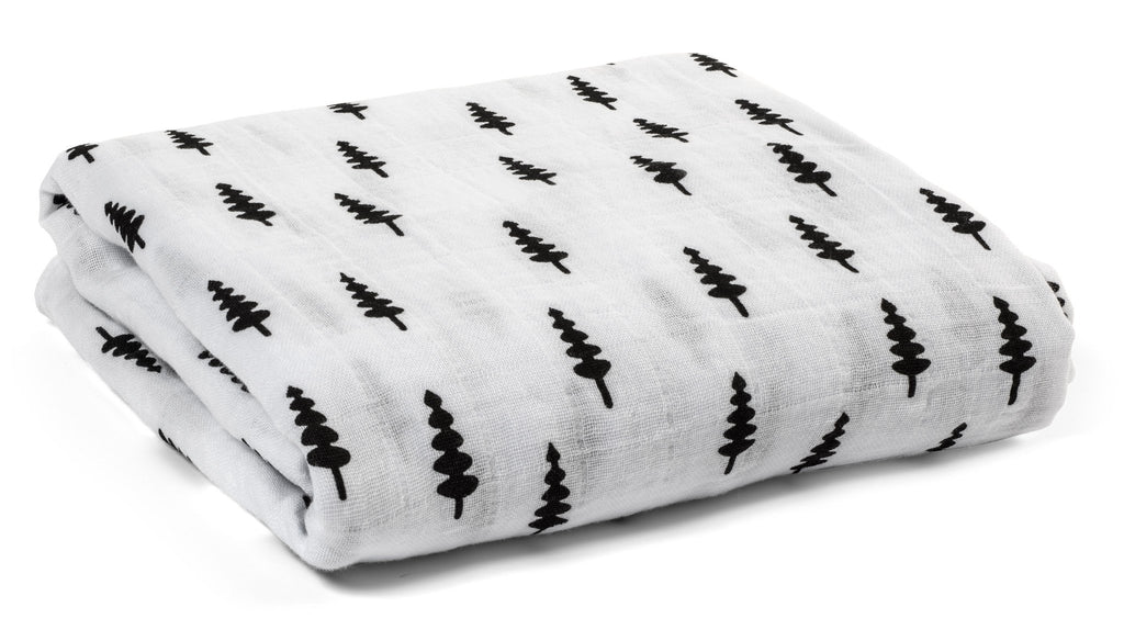 organic cotton muslin swaddle blanket-trees