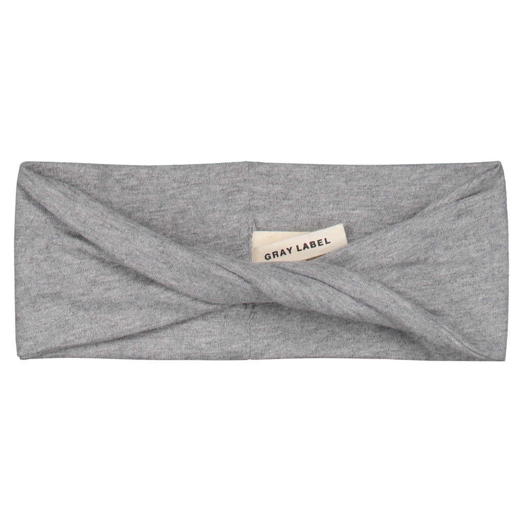 twist headband in grey melange