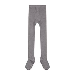 ribbed tights in grey melange