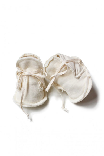 BABY RAW EDGE BOOTIES IN CREAM