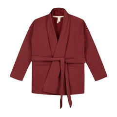 CHUNKY CARDIGAN IN BURGUNDY
