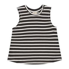 BABY STRIPED TANK TOP NEARLY BLACK/ WHITE STRIPE