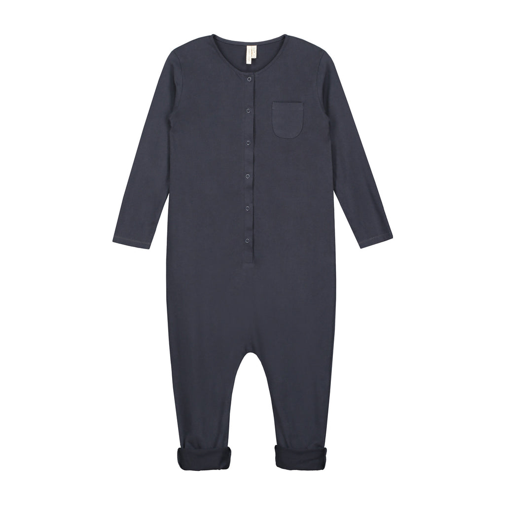 baby l|s playsuit in night blue