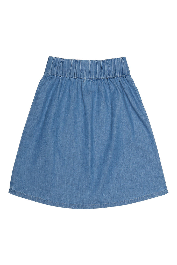 moon skirt in light denim