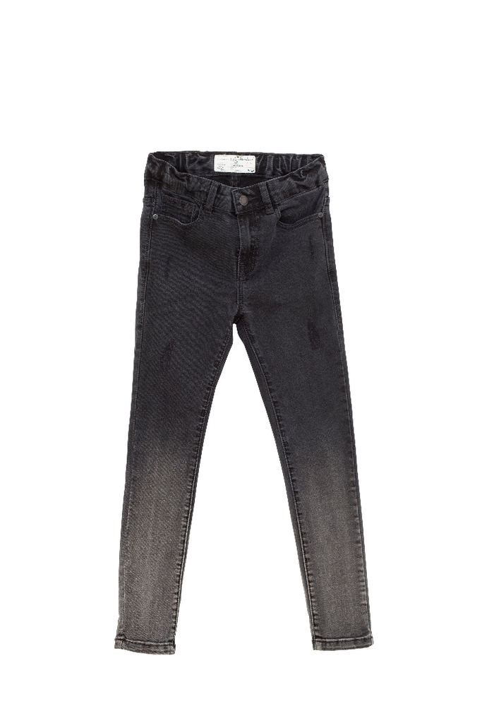 bruce slim jeans in black dipped