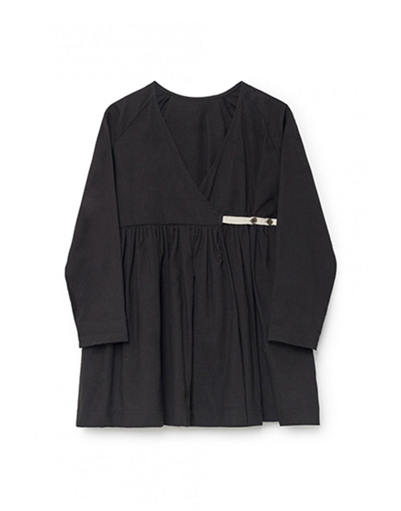 horizon wrap blouse in black