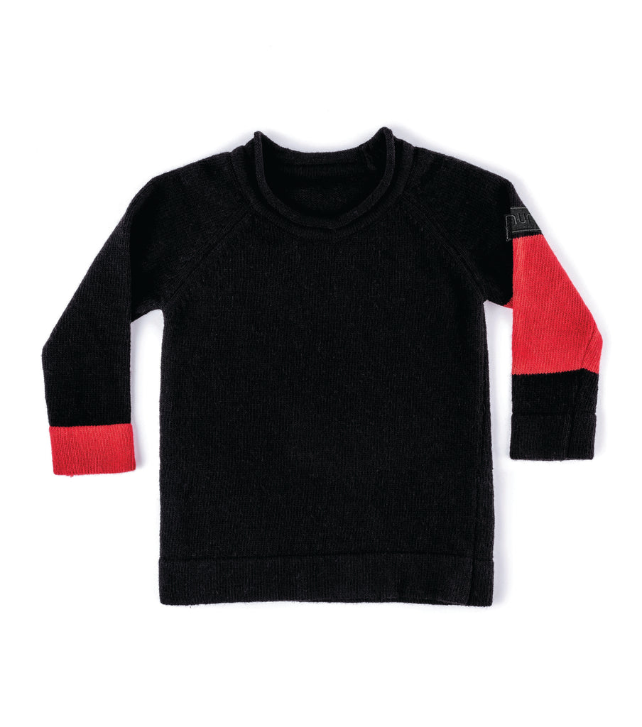 knit sweater in black