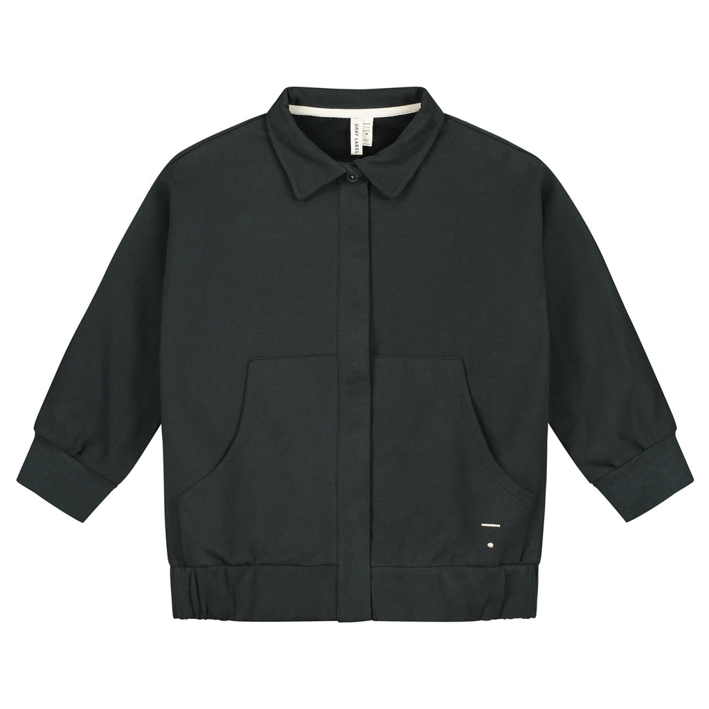 collar jacket nearly black
