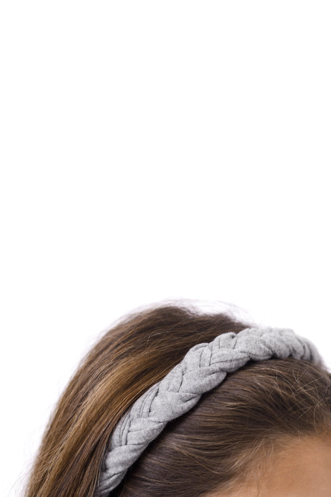 braid headband in moss