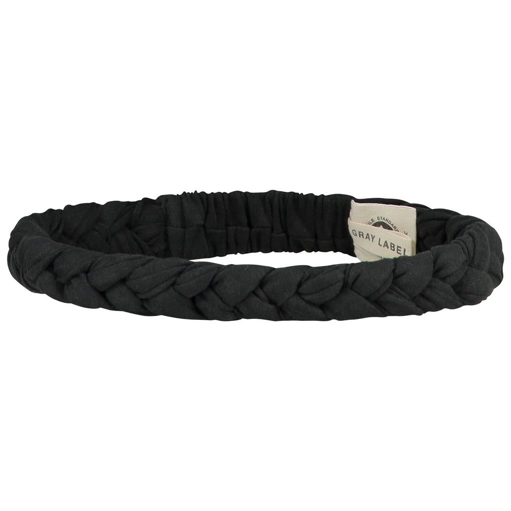 braid headband in nearly black