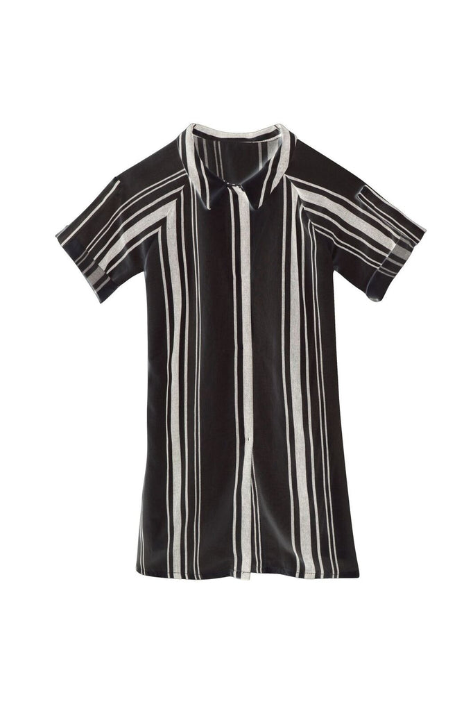 baby tuareg shirt dress in dark stripes