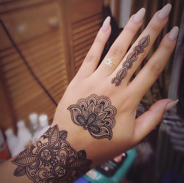 Blossom || Dark Henna Sheet
