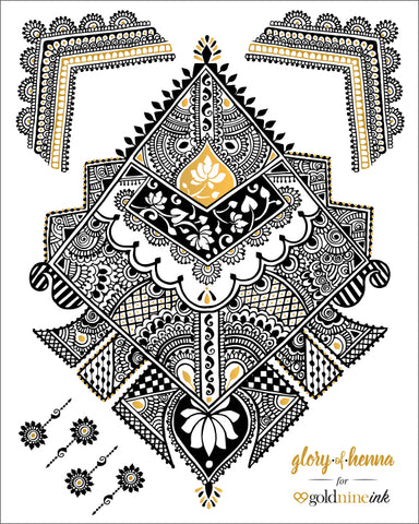 Glory of Henna 'QUEEN B' by Deepali Deshpande