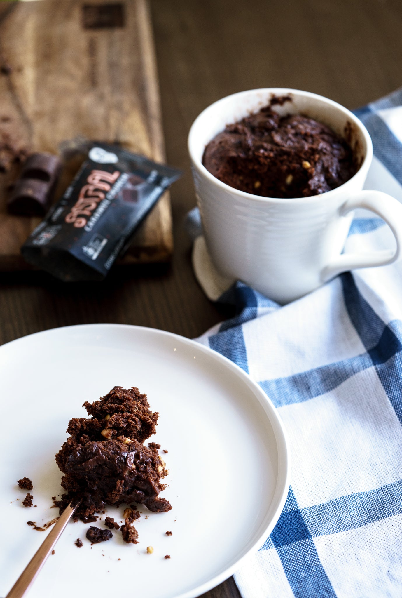 Decadent Chocolate and Peanut Butter Mug Cake (serve 2)