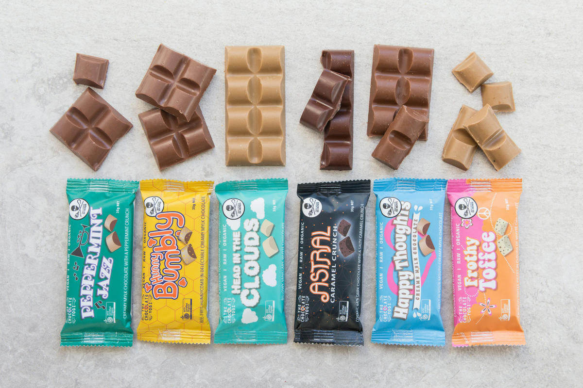 The Chocolate Yogi Fun Range Wholesale Vegan Chocolate Australia Bulk Chocolate