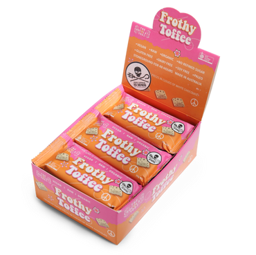 Frothy Toffee Box (15x35g bar) Whyte Vegan Chocolate