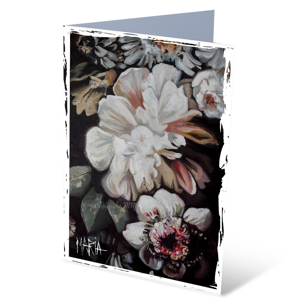 MGC18045 - Flowers in bloom - Satin smooth greeting card