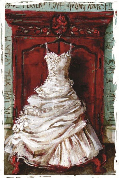 MGC11151 - White Dress - Satin Smooth Greeting Card