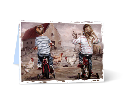 MGC14133 - Training Wheels - Satin Smooth Greeting Card