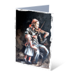 MGCS12062 - The violin player - Small greeting card