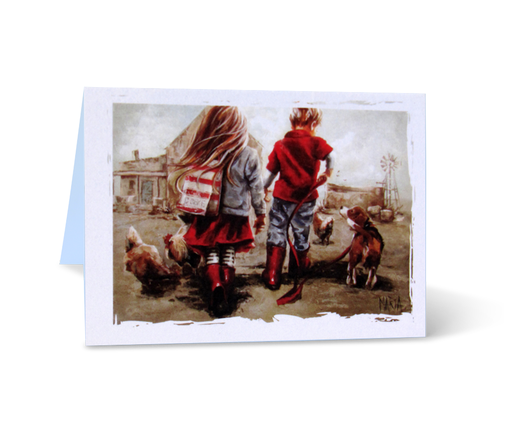 MGCS14055 - Go for a walk - Small greeting card