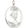 Happiness in the wind - Silver Pendant